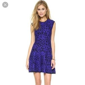 Rebecca minkoff knit leopard dress size m